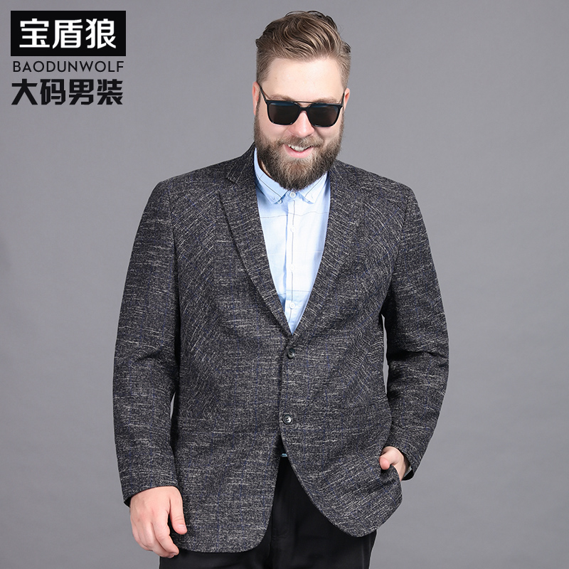 Extra large mens business suit plus extra size casual casual Western fat mans spring and autumn suit mens coat