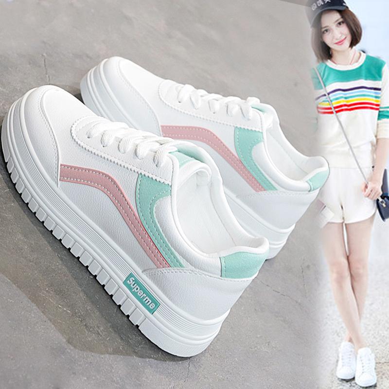 2021夏季新款韩版平底单鞋方头浅口软底豆豆鞋金属扣拼接女鞋