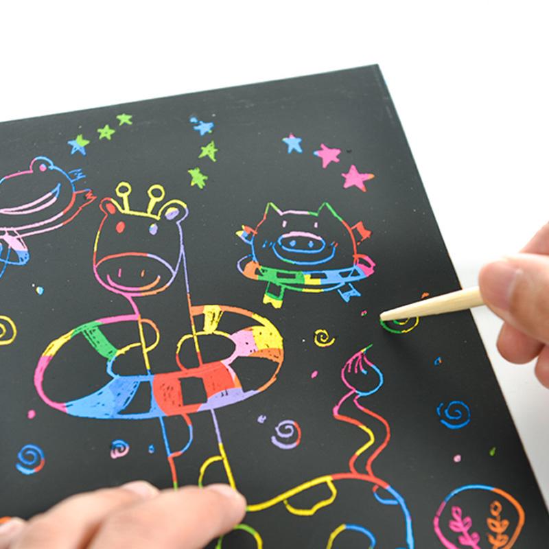 蘅蕪 兒童刮刮畫 DIY塗鴉本炫彩刮畫紙幼兒園 繪畫玩具