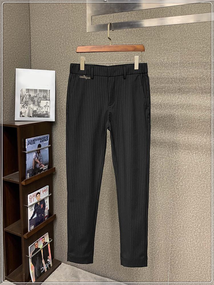 上品なファッションの代表作~春夏の新型都市男性ビジネスカジュアルパンツストライプ通勤パンツ