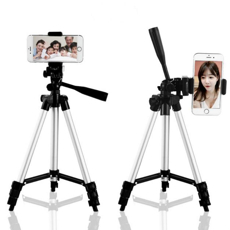 直播支架手机三脚架映客通用自拍杆微单反数码相机摄像便携三角架