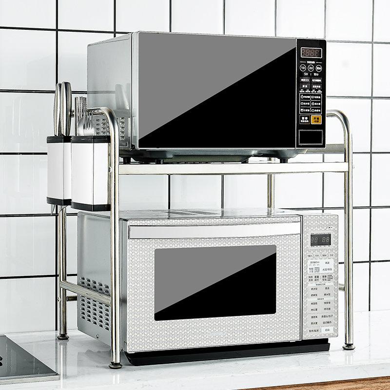 304不锈钢厨房双层烤箱家用收纳架