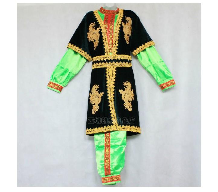 新款新疆男装 新疆民族服装 民族舞蹈服装 演出服装 维吾尔族服
