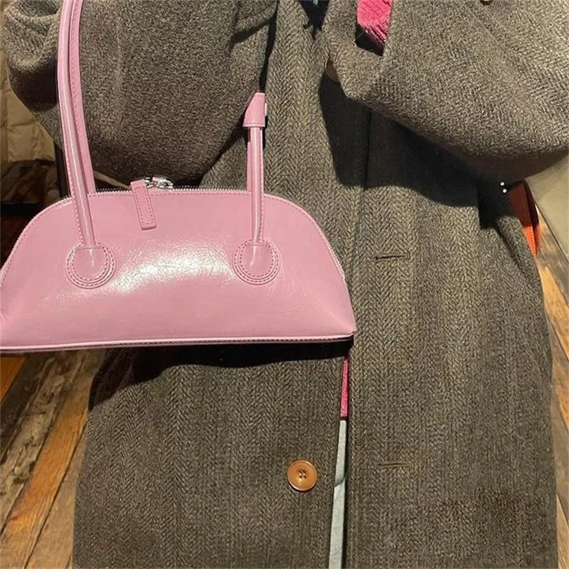 2021粉色糖果色ins复古法棍包百搭休闲手提单肩腋下包粉红色包包