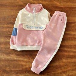 女童春装运动套装新款春款儿童春秋运动服童装2021年衣服女孩卫衣