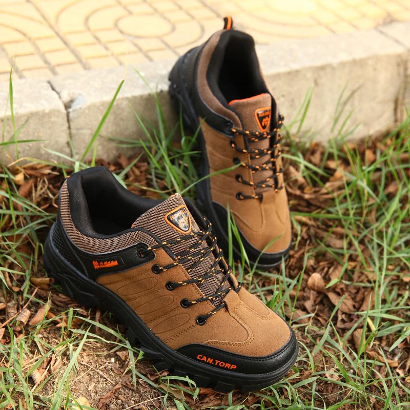 春夏季男士鞋登山鞋男户外休闲鞋防水防滑工作鞋徒步鞋野外慢跑鞋