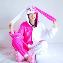 新款安琪拉卡通动物连体睡衣男女情侣学生可爱兔子睡衣秋冬演出