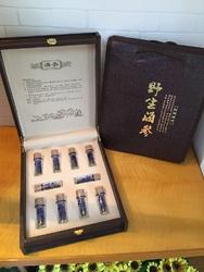 特级纯淡干野生六排刺满天星关东参原货 日本北海道红参 海参礼盒