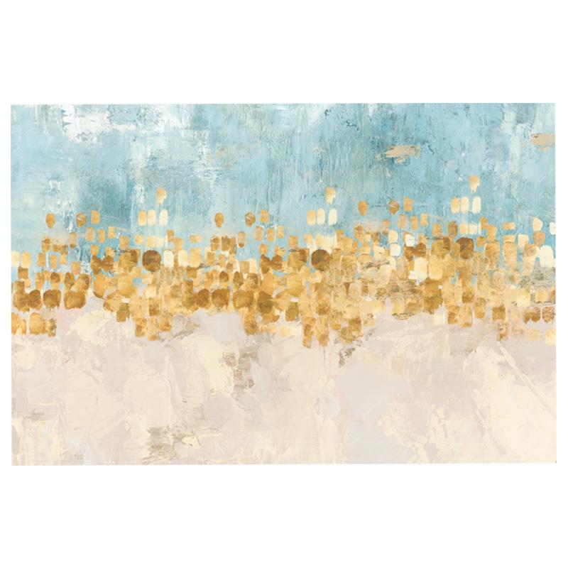 美式心抽象跳舞的星星客厅装饰画
