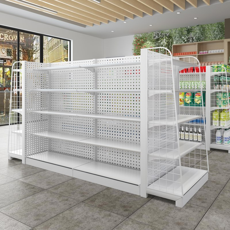 轻奢超市货架展示架母婴零食商品药店百货玩具槟榔靠墙双面挂勾置