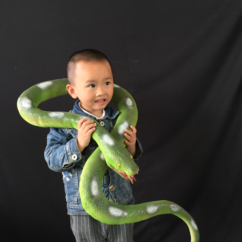 万圣节密室鬼屋吓人道具 恐怖整人玩具仿真蛇 仿真超大蟒蛇眼镜蛇