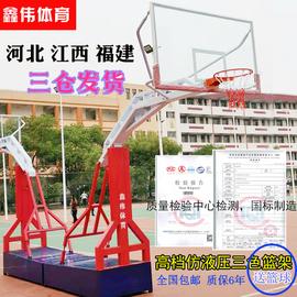 江西福建河北篮球架成人户外比赛学校落地室外标准移动加固篮球架图片