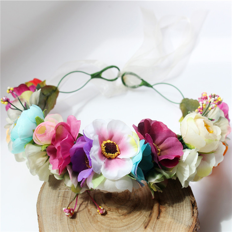 Fresh and retro rose ring headdress Bridesmaid travel shooting headdress Headband