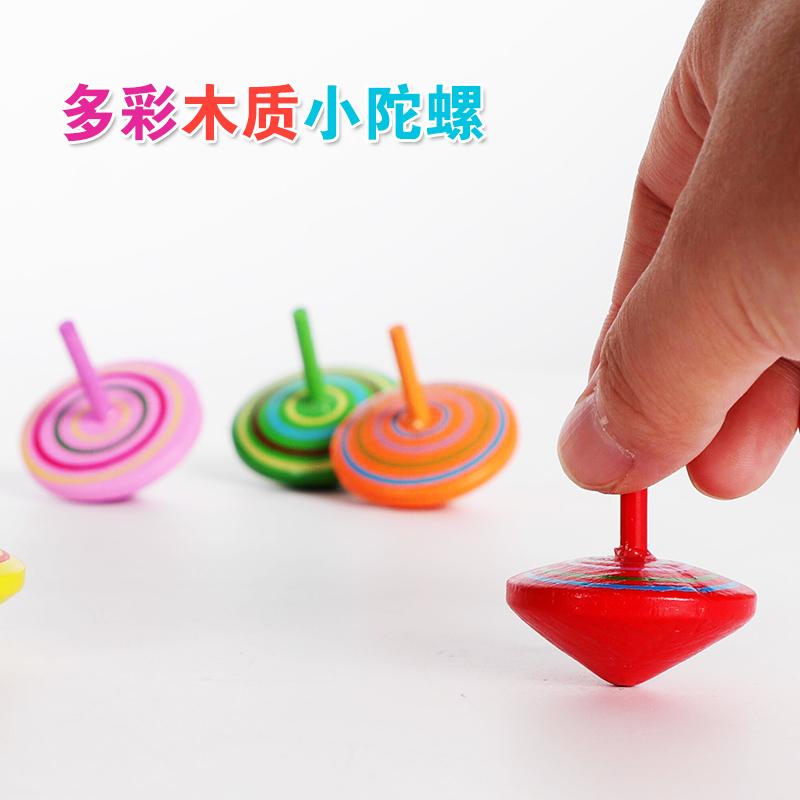 陀螺旋转小陀螺儿童木质坨螺手转小学生砣螺5岁男生减压转转玩具3(非品牌)