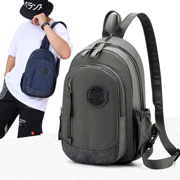 Mini Backpack leisure mens single shoulder oblique backpack multi functional chest bag dual purpose small bag outdoor mens backpack