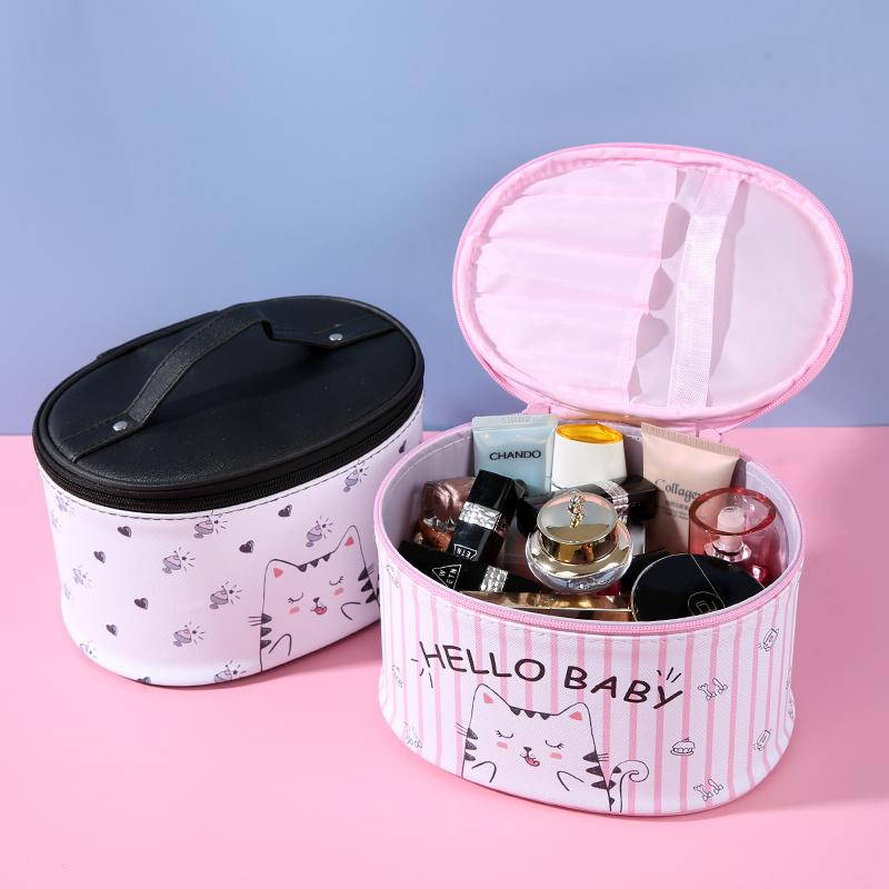 防水旅行可爱少女心网红多功能手提护肤品pu收纳盒大容量化妆包女图片