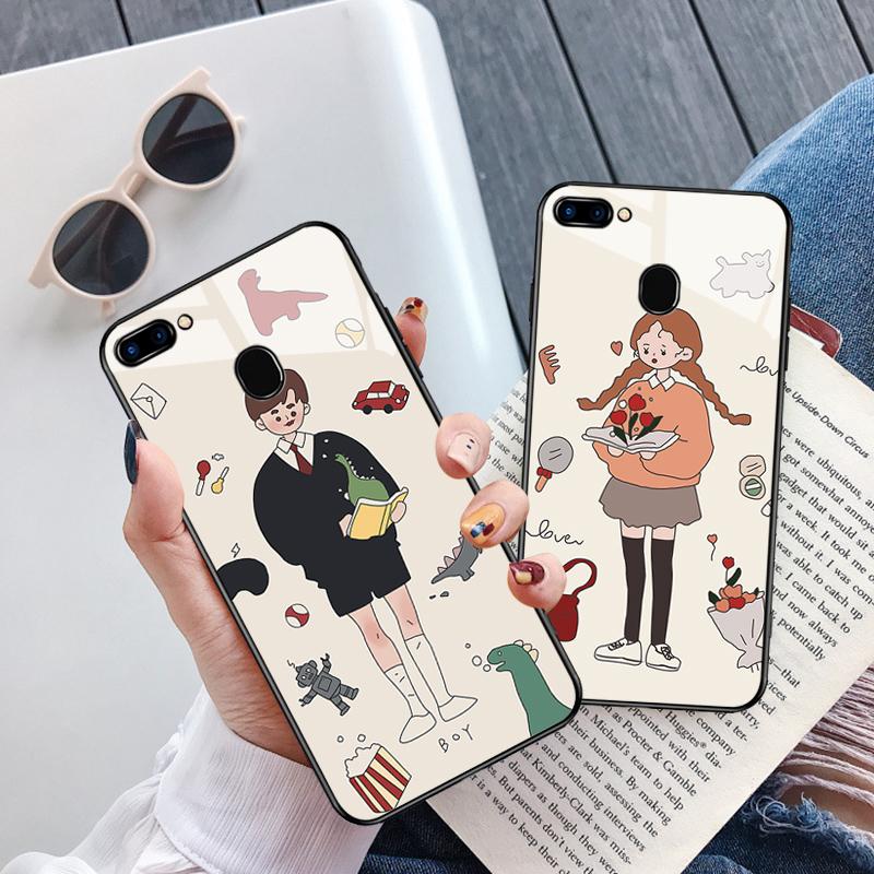 oppor11s手机壳玻璃oppor11splus套女个性创意全包边防摔卡通潮11-08新券