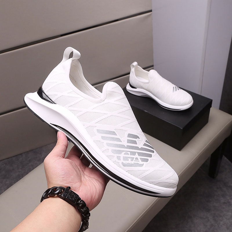 Liden Armani new summer tennis shoes mens outdoor sports small white shoes breathable fashion casual mesh shoes