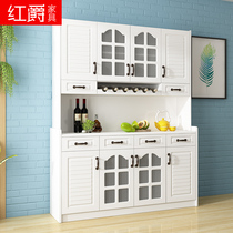 Modern minimalist dining cabinet wine cabinets fashion Kitchen multi-purpose four-door restaurant assembly white large-capacity tea water cabinet