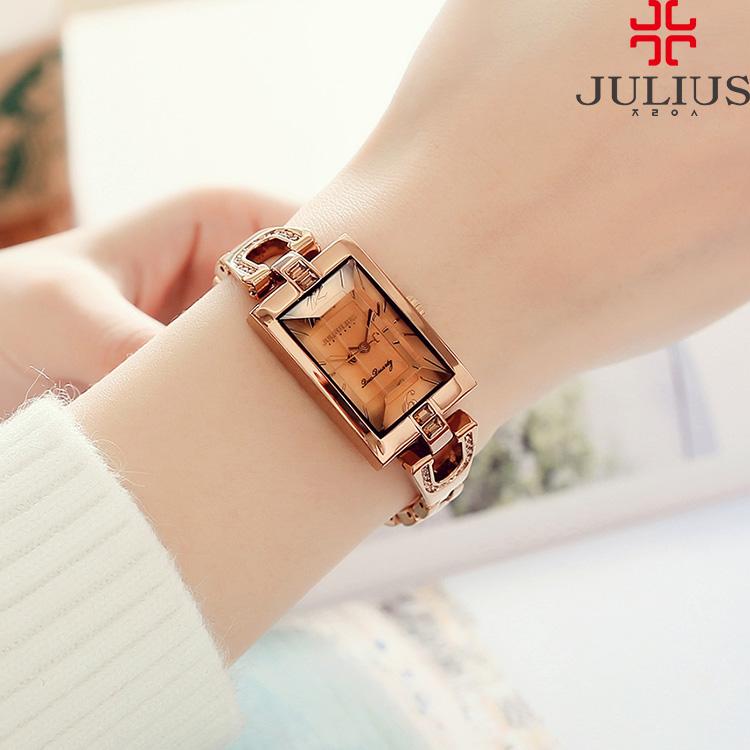 Poly new watch Korean bracelet fashion crystal women watch steel chain fashion waterproof watch ja-443