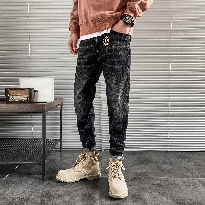 新款牛仔裤男韩版潮流修身小脚长裤子 b417/kk271p68控88