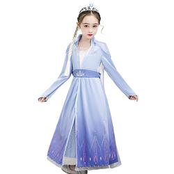 冰雪奇缘2正版艾莎公主裙春秋套装2020新款爱莎连衣裙爱沙公主裙