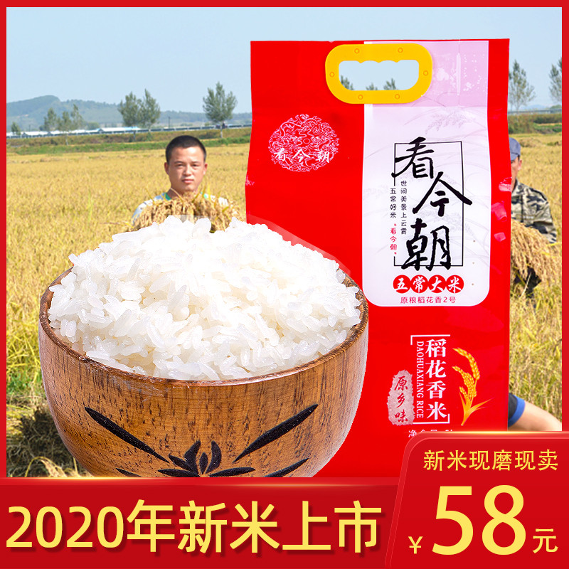 New rice northeast Heilongjiang Wuchang Daohuaxiang No.2 super long grain 2020 authentic 5kg japonica rice 10 jin
