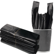 Garbage Bag Household Thickened Medium and Large Black Hand-held Vest Type Garbage Bag Wholesale Disposable Plastic Bag Kitchen