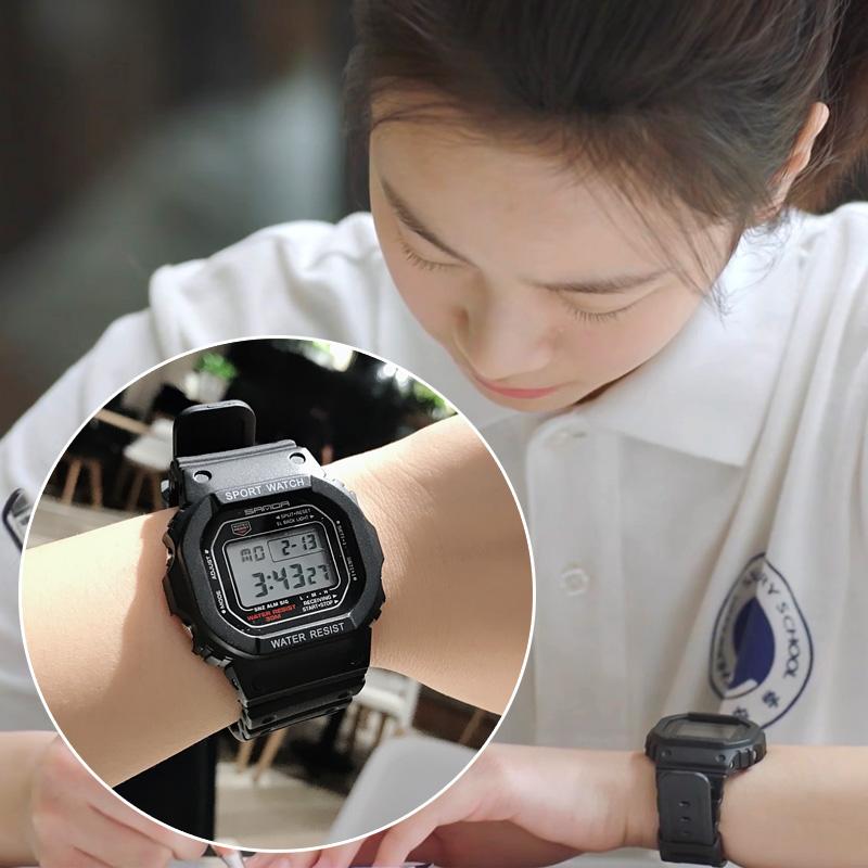 小欢喜乔英子同款手表李庚希女ins风韩版电子表森系学院风学生