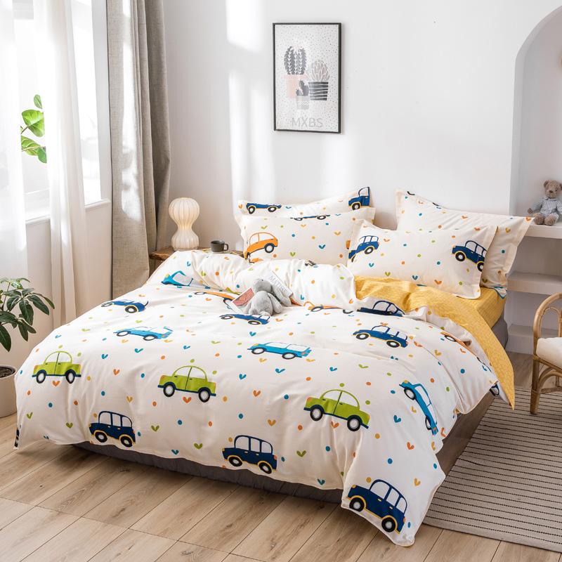 儿童纯棉三件套卡通全棉四件套男女孩床上用品1.2m1.5 1.8米