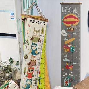 出口货~ins儿童布艺身高尺家用可移除移动悬挂式测量尺儿童房装饰
