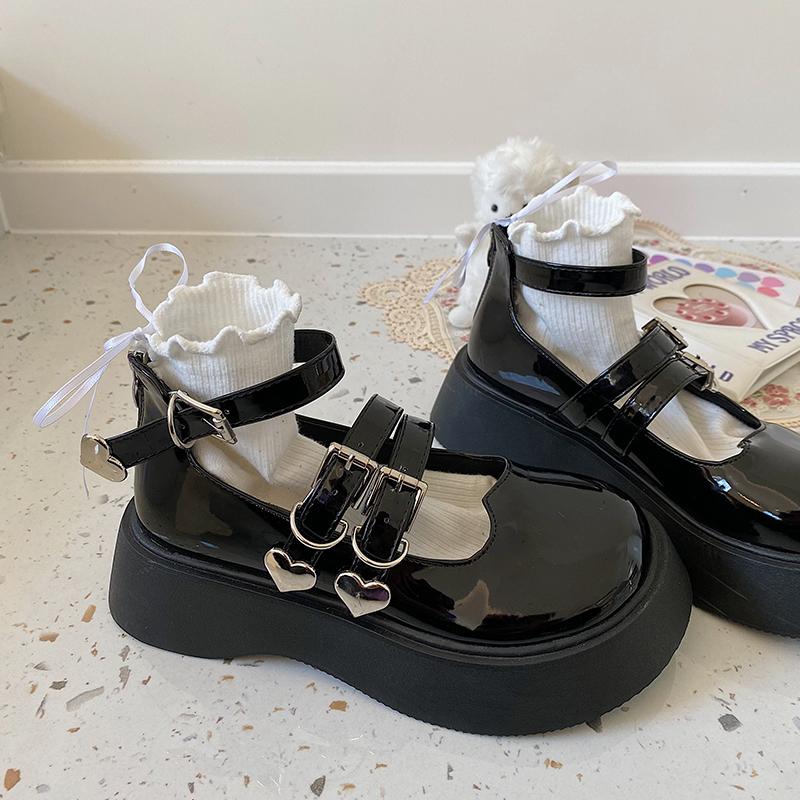 大头鞋增高厚底日系jk英伦风小皮鞋