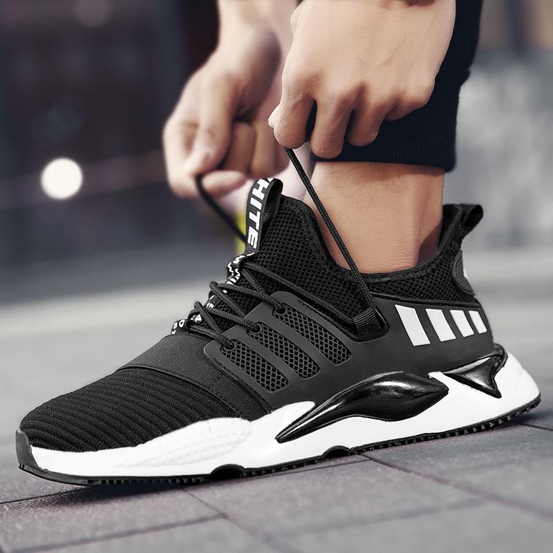 夏季鞋子网鞋男网面男士飞织运动鞋透气薄款春季潮鞋青少年旅游鞋