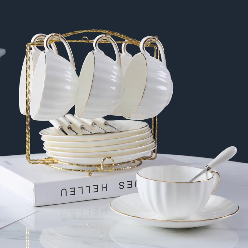 限时抢购韩尚宅品创意欧式咖啡杯套装骨瓷