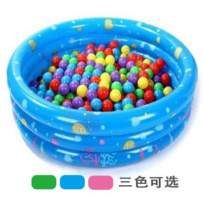 兒童充氣池寶寶洗澡戲水嬰兒遊泳池可折疊波波海洋球池決明子沙池
