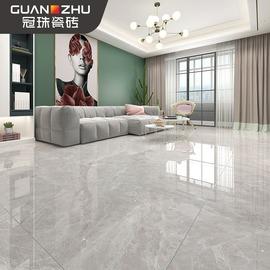 冠珠瓷砖简约墙砖客厅全抛釉800x800北欧灰色防滑耐磨地砖玛雅灰