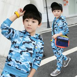 男童迷彩休闲套装