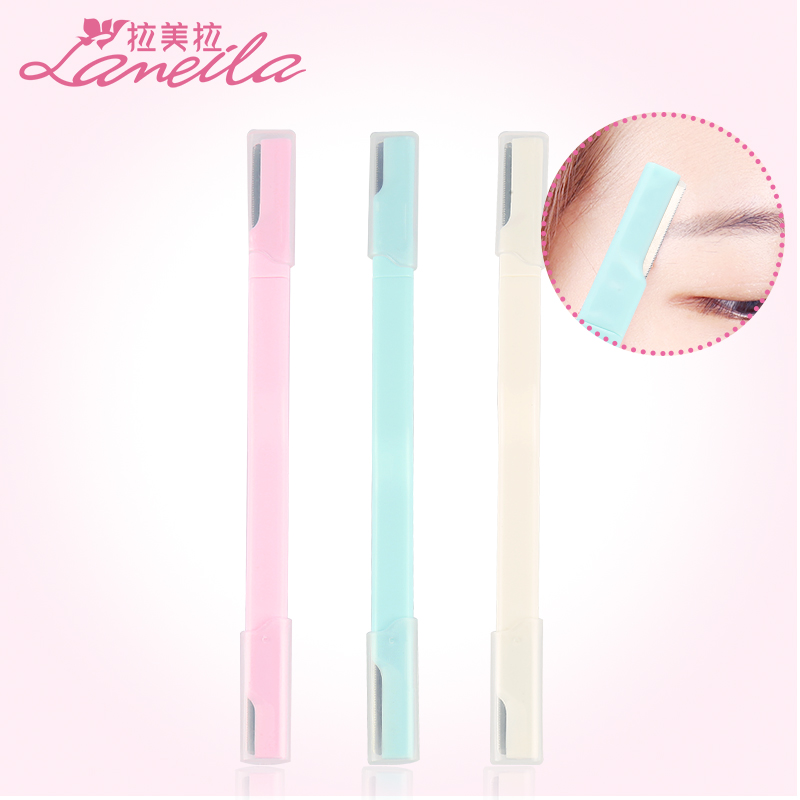 Latin American double head eyebrow trimming knife female and male beginners sharp thrush artifact scraping knife set makeup artist tool
