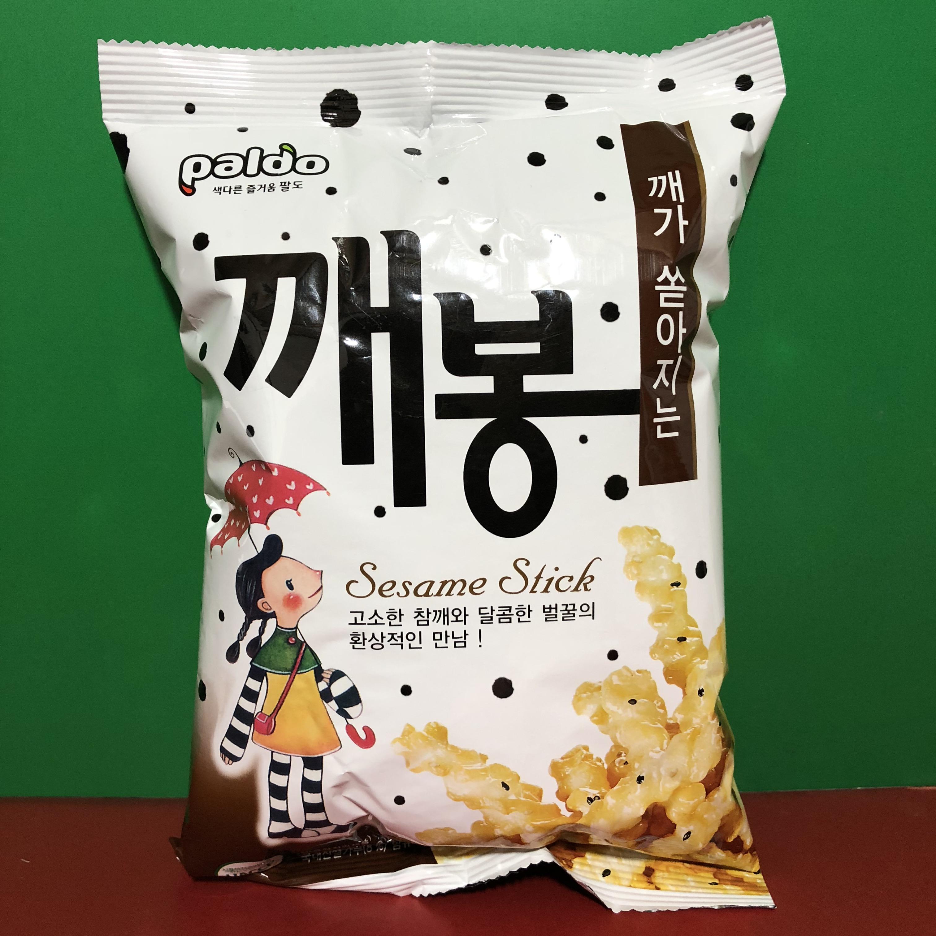 韩国原装进口 Paldo 葩朵芝麻蜂蜜条/豆腐脆片70g膨化食品 临期价