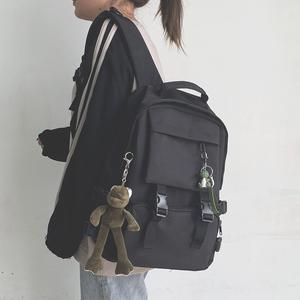 工装书包女韩版高中大学生大容量15.6寸电脑背包男时尚潮流双肩包