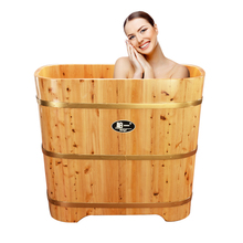Cypress wood bath bath tub bath tub tub bath tub adult square tub wooden household