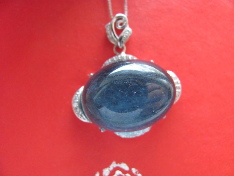 Exaggerated luxury super large natural Aquamarine devil blue cat eye star light plain egg face ring face pendant 601