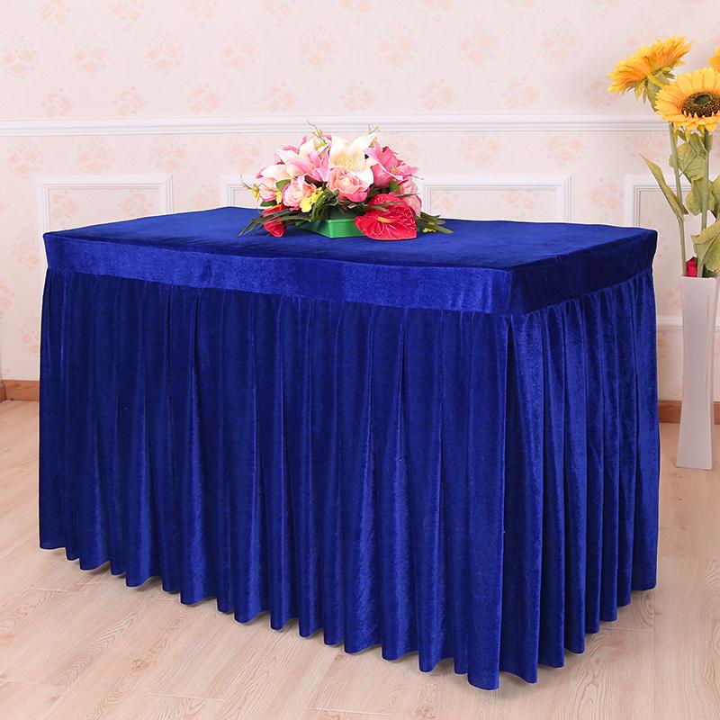 10月15日最新优惠定做会议桌裙签到丝绒桌套办公台裙