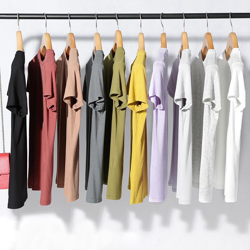 10色,定制面料!超爽滑 免烫 显瘦百搭 基础针织短袖T恤 淘么淘