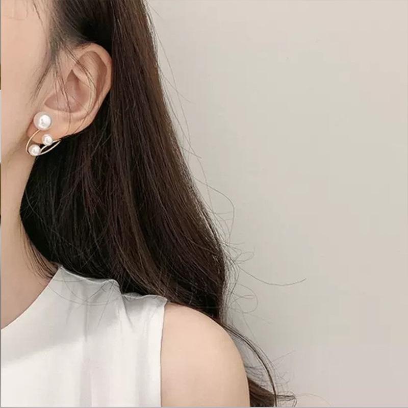 中國代購 中國批發-ibuy99 耳环 韩国东大门新款百搭气质圆圈珍珠耳环日韩小众设计设计质感耳钉女