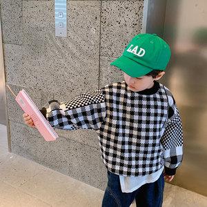纯棉男童韩版套头针织衫毛衣2020新款洋气春秋装中大童儿童童装潮