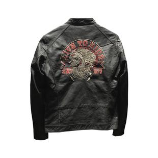 男士2019新款皮衣修身型歐美街頭哈雷機車皮夾克男春秋潮流外套潮