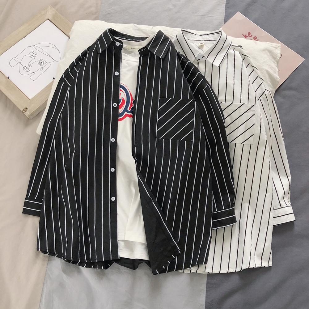 2020春季 条纹七分袖衬衫A009-C442-P40  成分100%棉2