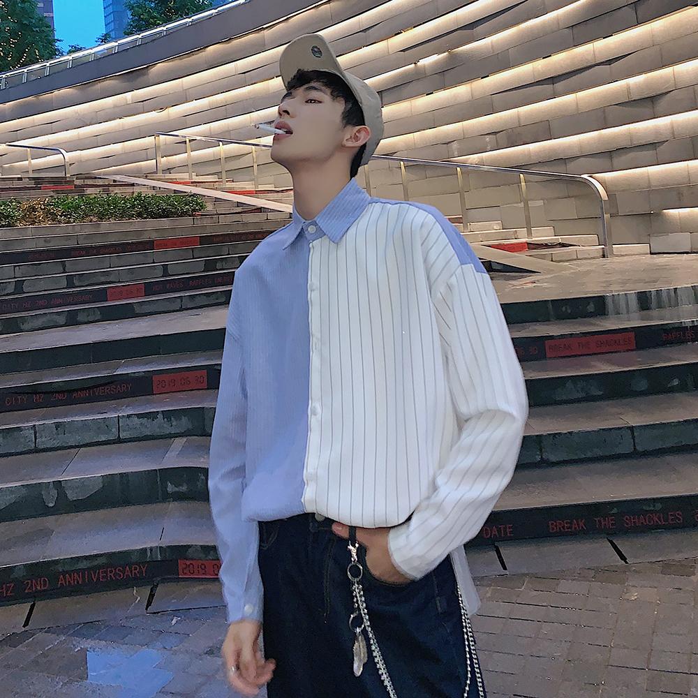 2019秋季 条纹男士 长袖衬衫A009-C399-P50 85棉 15涤纶