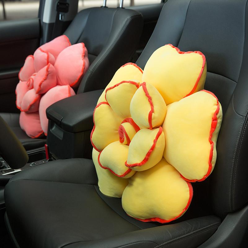 热销1062件买三送一玫瑰花抱枕靠枕创意靠垫毛绒花朵可爱床头睡觉用沙发靠背汽车腰靠